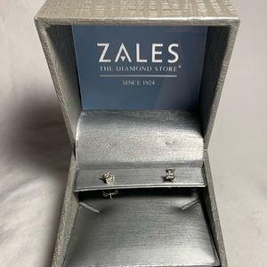 Zales Diamond Stud Earrings (Sterling Silver)